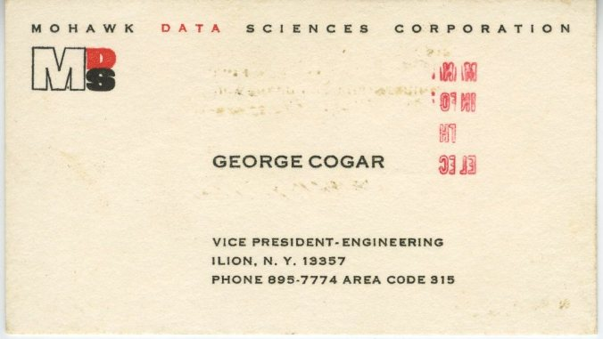 G. Cogar MDS business card