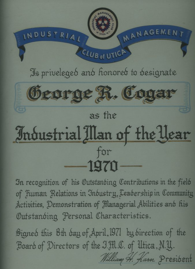Industrial Man of the Year 1970