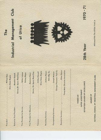 Industrial Management Club of Utica 1970-71
