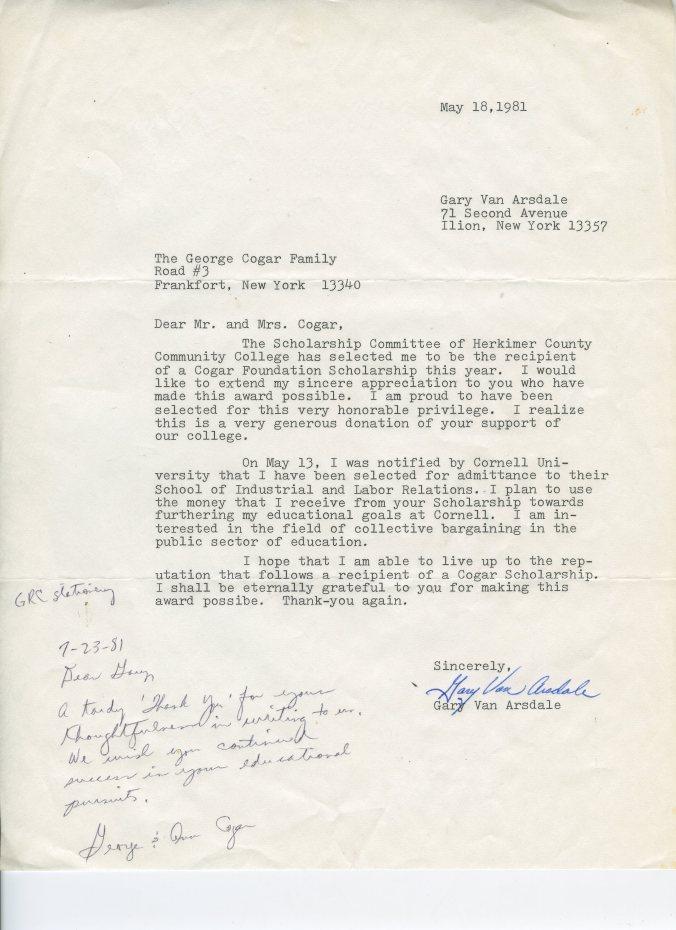 Thank you letter from HCCC Cogar foundation scholarship.jpg
