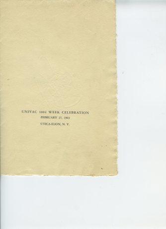 UNIVAC 1004 program p1