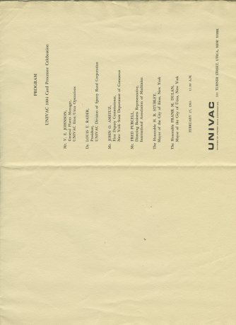 UNIVAC 1004 Program p2